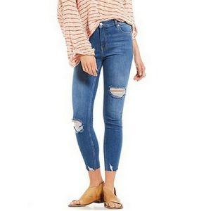 Free people shark bite skinny jeans, NWT Sz 30